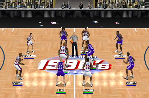 80s All-Stars vs 90s All-Stars in NBA Live 2000