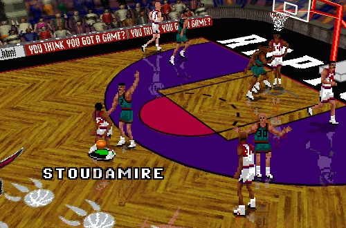 Vancouver Grizzlies vs Toronto Raptors in NBA Live 96