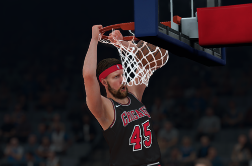 Dunking in MyCAREER (NBA 2K18)