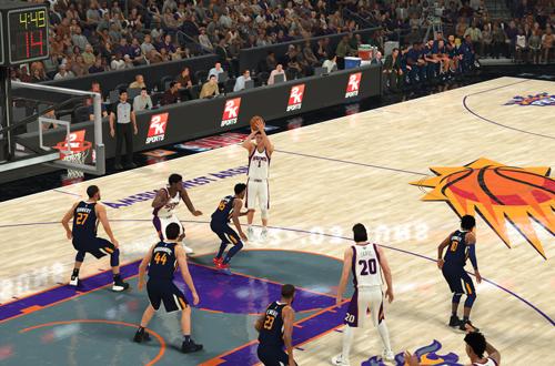 Retro Suns Branding in NBA 2K20