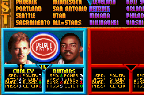 Bill Curley in NBA Jam Tournament Edition