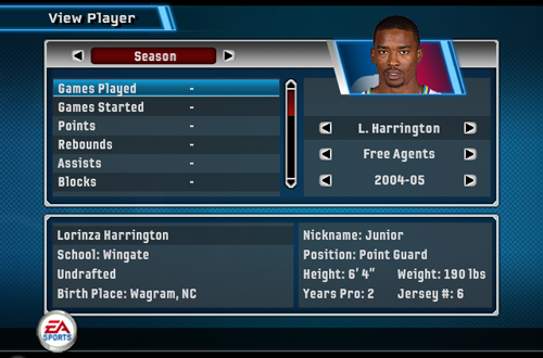 Junior Harrington in NBA Live 06