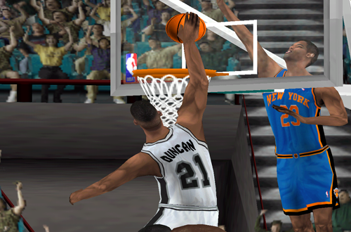 Cover Player Tim Duncan in NBA Live 2000