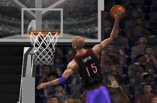 Vince Carter dunks in NBA Live 2002