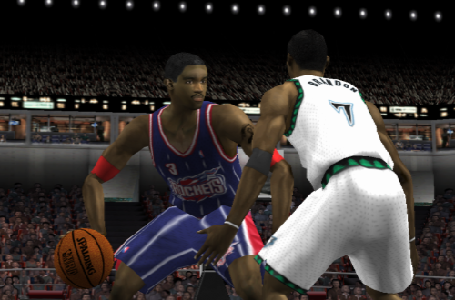 Cover Player Steve Francis in NBA Live 2002