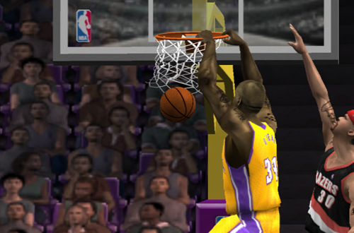 Shaq Attack in NBA Live 2002