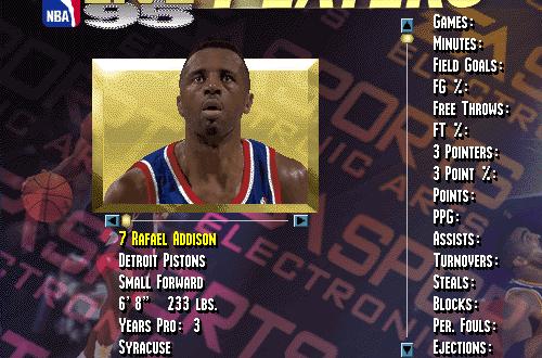 Players I Remember: Rafael Addison (NBA Live 95)
