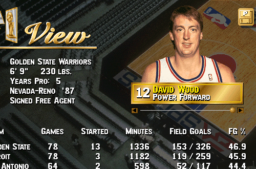 Players I Remember: David Wood (NBA Live 96)