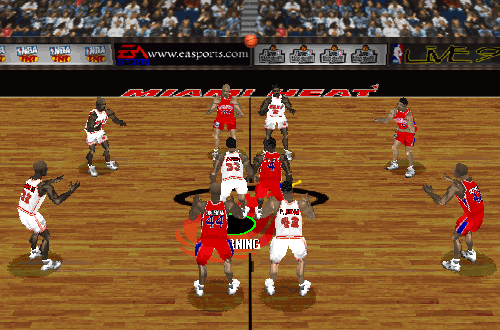 Heat vs 76ers in NBA Live 97