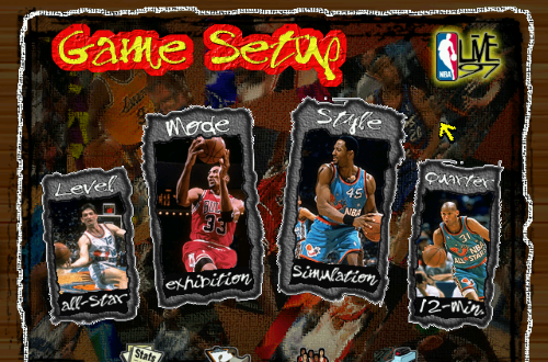 Main Menu in NBA Live 97
