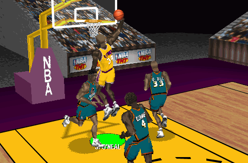 Shaq dunks in NBA Live 97