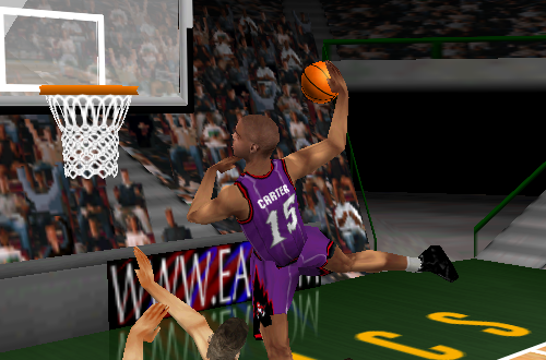 Vince Carter dunks in NBA Live 99