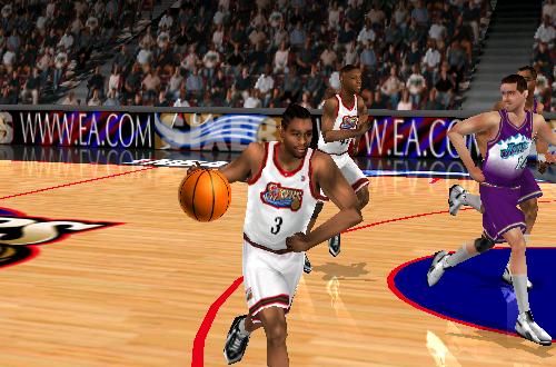 Allen Iverson in NBA Live 99