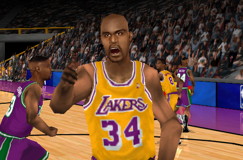 Shaquille O'Neal in NBA Live 99