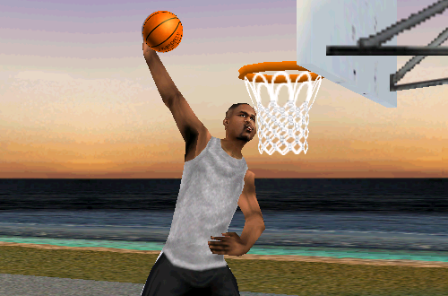 Antoine Walker in Practice Mode (NBA Live 99)
