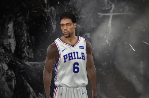 Unused Julius Erving Face in NBA 2K11
