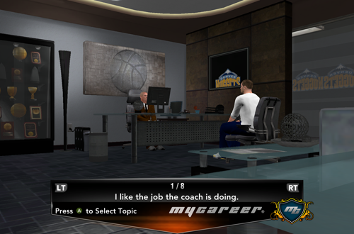 Meeting with the GM in MyCAREER (NBA 2K13)