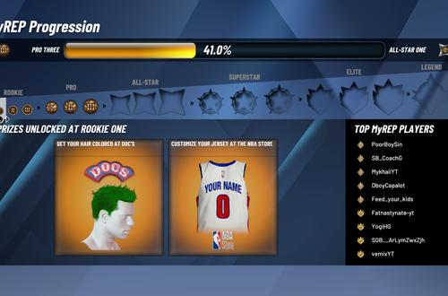 Rookie One MyREP in NBA 2K20
