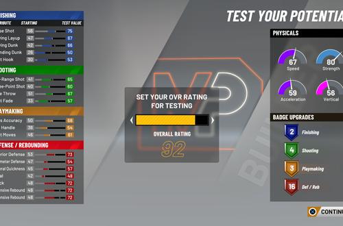 Test Build in MyCAREER (NBA 2K20)