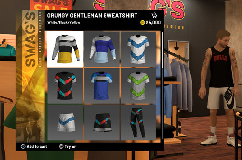 Expensive Shirts in Swag's (NBA 2K20 MyCAREER)