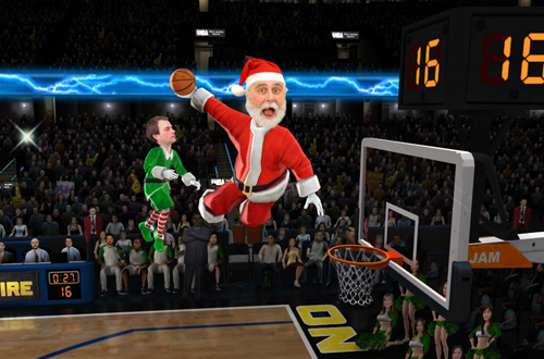 Santa Claus in NBA Jam: On Fire Edition