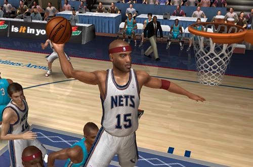 Vince Carter dunks in NBA Live 06