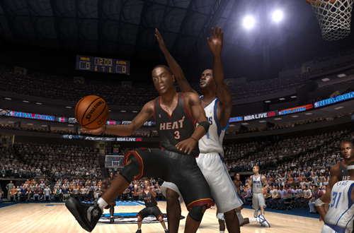Cover player Dwyane Wade in NBA Live 06