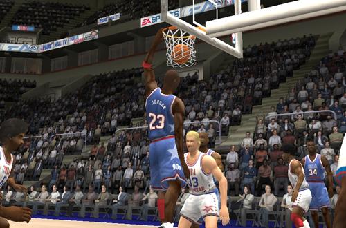 Michael Jordan in NBA Live 2004