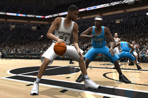 Tim Duncan vs Dwight Howard in NBA Live 2005
