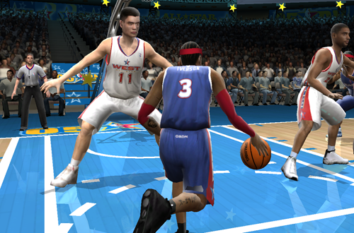 Allen Iverson in the All-Star Game (NBA Live 2005)