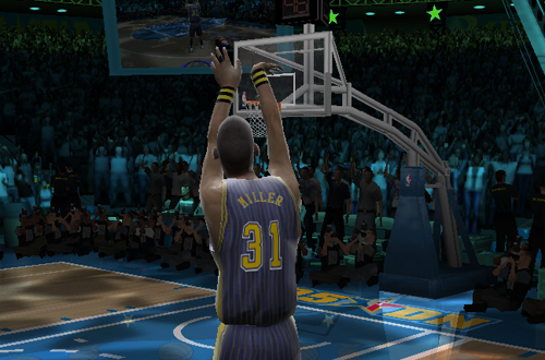 Reggie Miller in the Three-Point Shootout (NBA Live 2005)