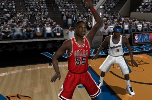 Dikembe Mutombo on the Bulls in NBA Live 2005 PS2