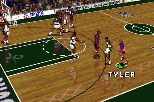 B.J. Tyler on the Raptors in NBA Live 96