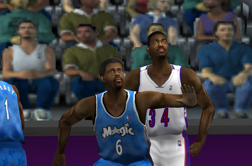 2002 Patrick Ewing vs Hakeem Olajuwon in NBA Live 2001