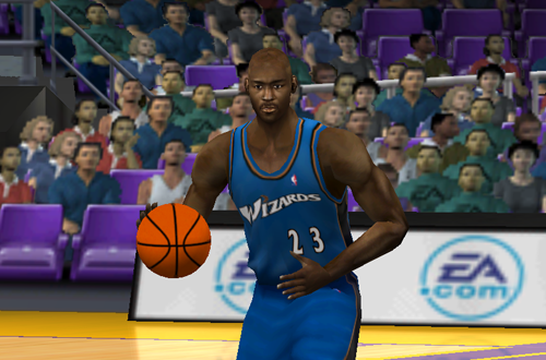 Michael Jordan in the Fake NBA Live 2002 PC