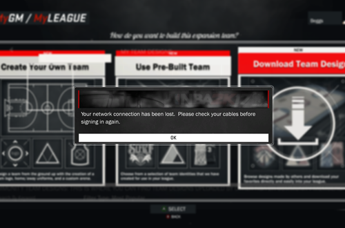 Inaccessible MyLEAGUE Features Without Servers
