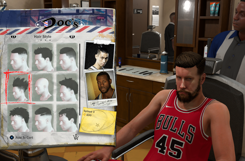 Charging for haircuts in MyCAREER (NBA 2K18)