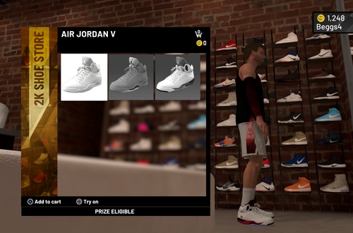 Buying Air Jordan Vs in MyCAREER (NBA 2K20)