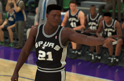 Dominique Wilkins on the Spurs (NBA 2K20)