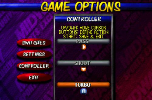 Control Options in NBA Hangtime