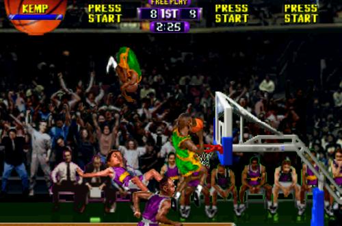 Double Dunk in NBA Hangtime