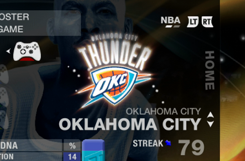 Errors with Oklahoma City in NBA Live 09