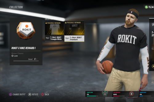 Clothing Rewards in NBA Live 19