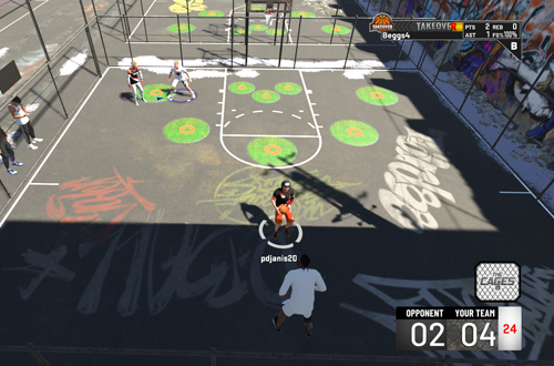 A game in The Cages (NBA 2K20)