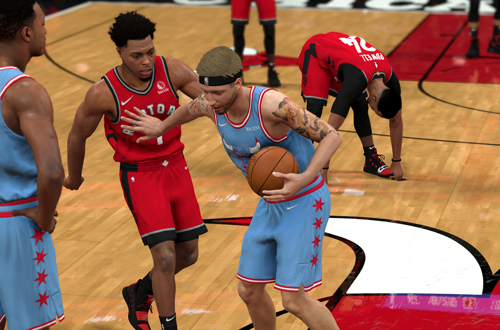A heated exchange in MyCAREER (NBA 2K20)