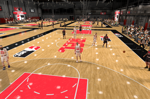Finishing a game in The Rec (NBA 2K20)