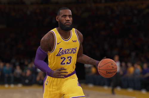 LeBron James in NBA Live 19