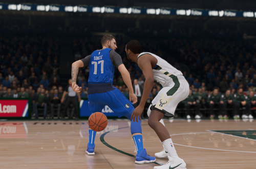 Luka Doncic passes in NBA Live 19