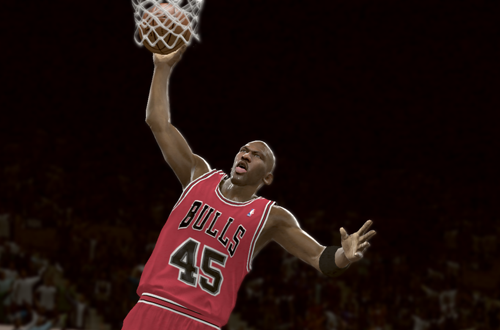 Michael Jordan dunks in NBA 2K11