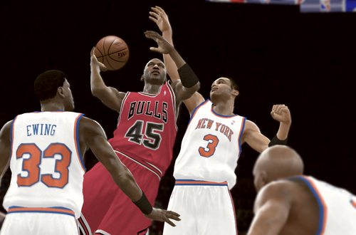 Michael Jordan vs the 1995 Knicks (NBA 2K11)
